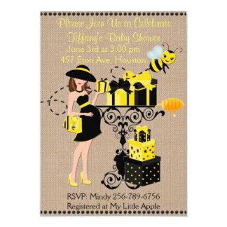 Tarjeta Manosee a señora Yellow Black de la abeja que la