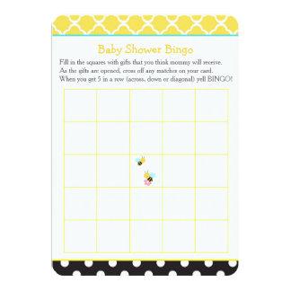 Tarjeta Manosee el bingo amarillo y negro de la abeja de