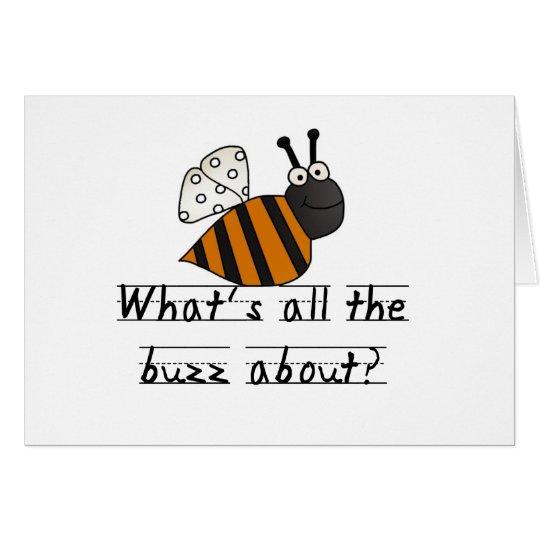 Tarjeta Manosee el zumbido de la abeja