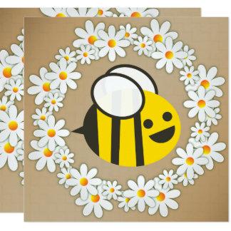 Tarjeta Manosee la abeja en una fiesta de cumpleaños de la