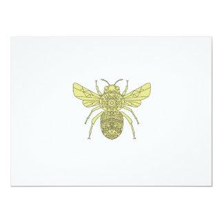 Tarjeta Manosee la mandala de la abeja