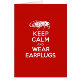 Tarjeta Mantenga los auriculares tranquilos y del desgaste