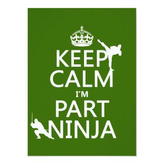 Tarjeta Mantenga tranquilo yo son parte Ninja (en