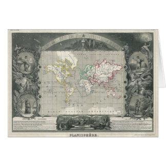 Tarjeta Mapa 1847 de Levasseur del vencedor del