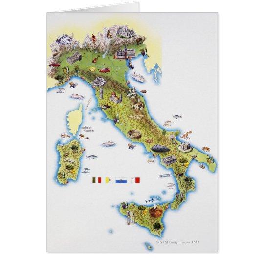 Tarjeta Mapa de Italia