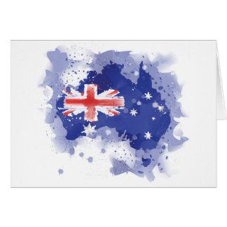 Tarjeta Mapa de la acuarela de Australia
