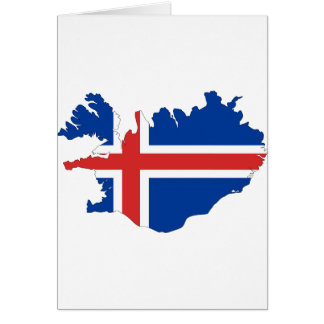 Tarjeta Mapa de la bandera de Islandia