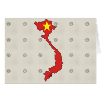 Tarjeta Mapa de la bandera de Vietnam del mismo tamaño