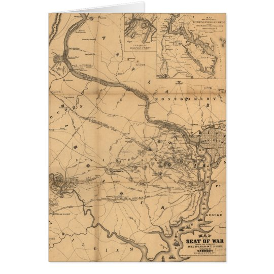 Tarjeta Mapa de la guerra civil batallas del 18 de julio,