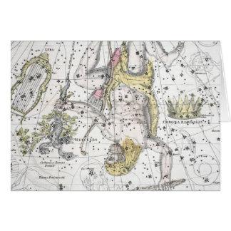 Tarjeta Mapa de la placa VIII de las constelaciones