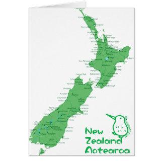 Tarjeta Mapa de Nueva Zelanda