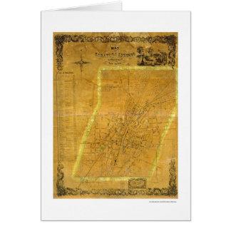 Tarjeta Mapa de Saratoga Springs, Nueva York por Bevan