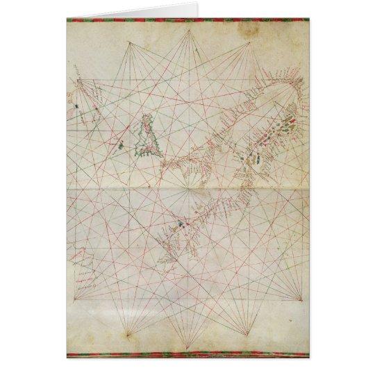 Tarjeta Mapa del mar adriático