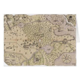 Tarjeta Mapa del terreno áspero