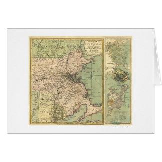 Tarjeta Mapa revolucionario de la guerra - 1775
