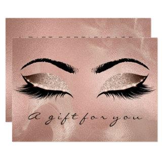 Tarjeta Maquillaje de la belleza del latigazo del oro de