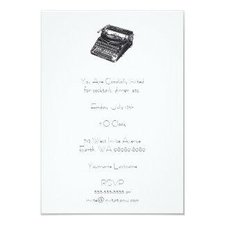 Tarjeta Máquina de escribir retra silenciosa de lujo