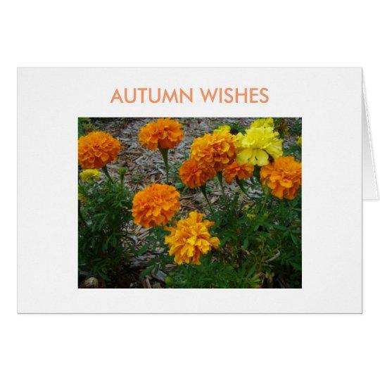 Tarjeta Maravillas, deseos del otoño