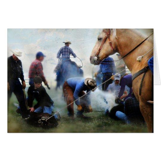 Tarjeta Marcado en caliente del rancho de Montana