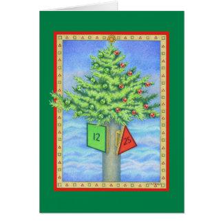 Tarjeta Marcador del navidad