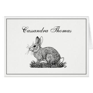 Tarjeta Marco H de las liebres #1 del conejo de conejito