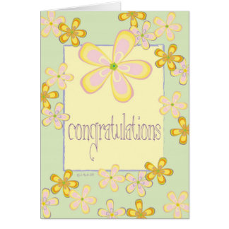 Tarjeta Margaritas coloridas - Congrats