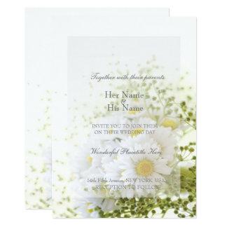 Tarjeta Margaritas en ramo Editable del boda del amor