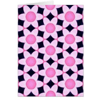 Tarjeta Margaritas rosadas macizas en negro
