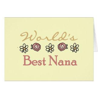 Tarjeta Margaritas y mundos la mejor Nana de los rosas