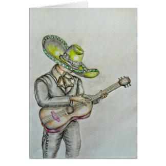 Tarjeta Mariachi con la guitarra