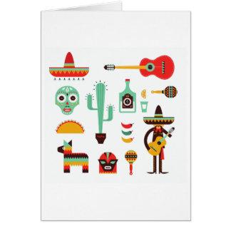 Tarjeta mariachi mexicano