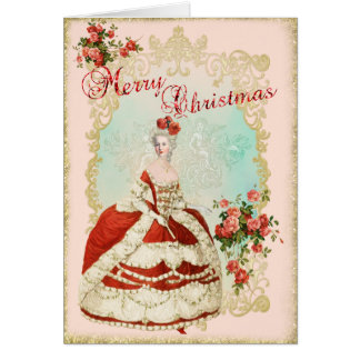 Tarjeta Marie Antoinette  Greeting Card Christmas Rose