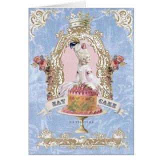 Tarjeta Marie Antonieta-Come notecard de la torta…