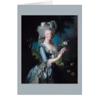 Tarjeta Marie Antonieta de Elisabeth Vigee-Lebrun
