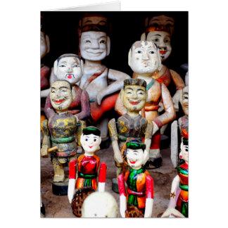 Tarjeta Marionetas vietnamitas del agua