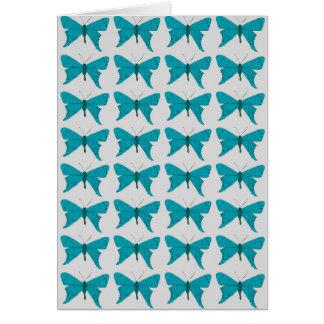 Tarjeta Mariposa azul
