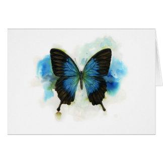 Tarjeta Mariposa azul cuaesquiera efectos de escritorio de