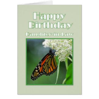 Tarjeta Mariposa de monarca de la nuera del feliz