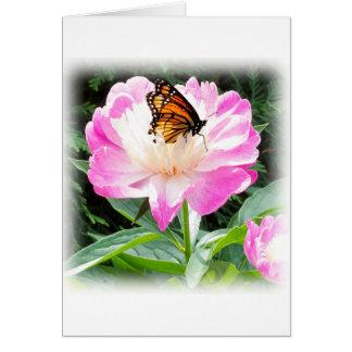 Tarjeta Mariposa de monarca real que descansa sobre un