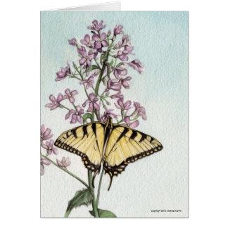 Tarjeta Mariposa de Swallowtail de Michael Martin