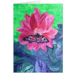 Tarjeta Mariposa en el jardín de Emilio Nolde