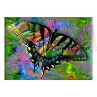 Tarjeta [Mariposa psicodélica] colorido - cualquier