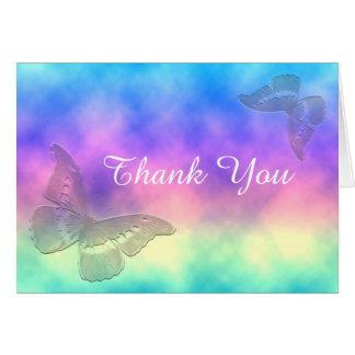 Tarjeta [Mariposas de la niebla del arco iris] gracias