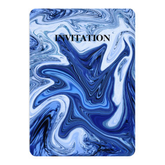 Tarjeta Mármol blanco azul de la aguamarina de los