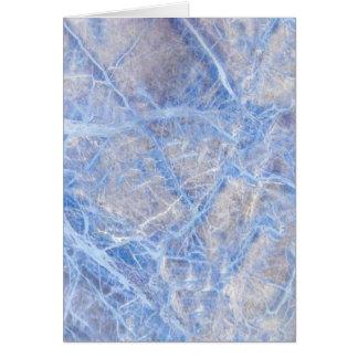 Tarjeta Mármol gris veteado azul claro