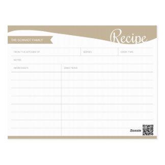 Tarjeta marrón clara y blanca personalizada de la