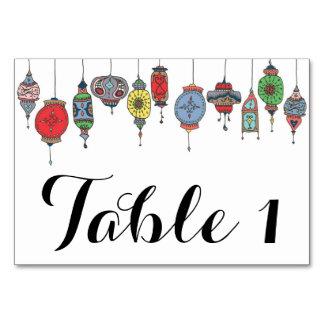 Tarjeta marroquí mágica de la tabla de las