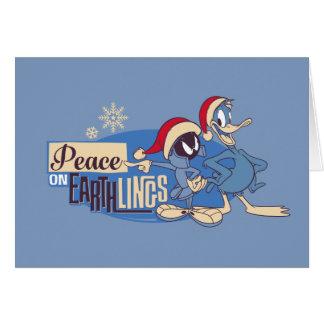 Tarjeta MARVIN la paz de MARTIAN™- en Earthlings