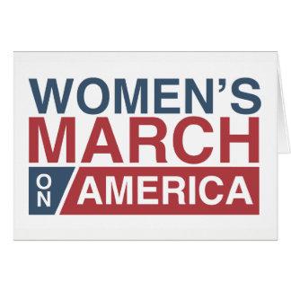 Tarjeta Marzo de las mujeres en América