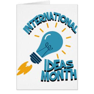 Tarjeta Marzo - mes internacional de las ideas
